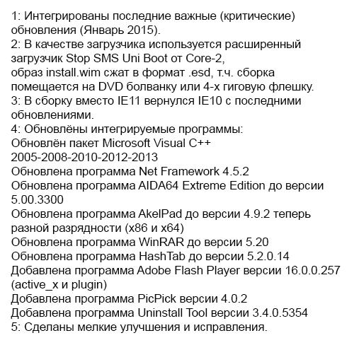Windows 7 Enterprise SP1 IDimm Edition v.19.15 (x86/x64) [2015, Ru]